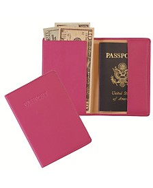 Royce New York Passport Embossed RFID Blocking Passport Case