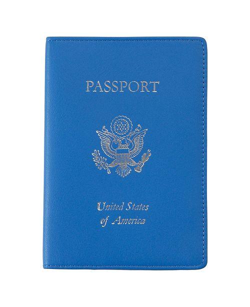 Royce Leather Royce New York Foil Stamped RFID Blocking Passport Case
