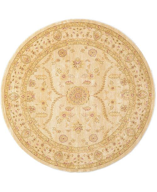 Bridgeport Home Orwyn Orw6 Beige 6' x 6' Round Area Rug