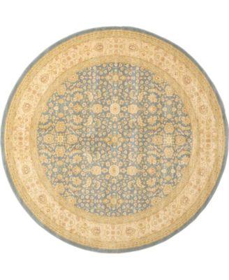Orwyn Orw8 Blue 8' x 8' Round Area Rug