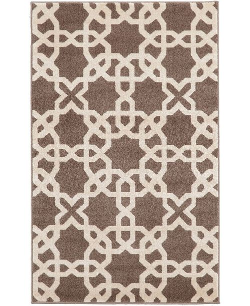 "Bridgeport Home Arbor Arb5 Light Brown 3' 3"" x 5' 3"" Area Rug"