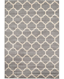 Bridgeport Home Arbor Arb1 Dark Gray 7' x 10' Area Rug