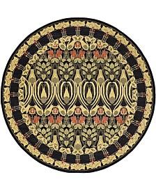 Bridgeport Home Orwyn Orw3 Black 8' x 8' Round Area Rug