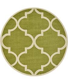 Arbor Arb3 Green 6' x 6' Round Area Rug