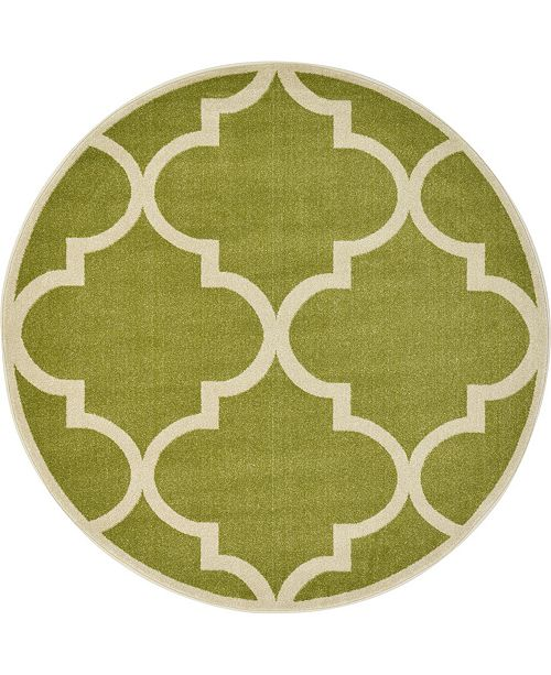 Bridgeport Home Arbor Arb3 Green 6' x 6' Round Area Rug