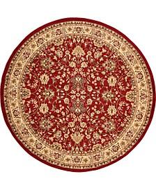 Arnav Arn1 Burgundy 8' x 8' Round Area Rug