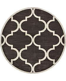Arbor Arb3 Brown 8' x 8' Round Area Rug