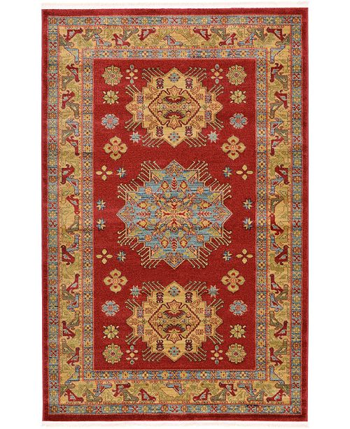 Bridgeport Home Harik Har1 Red 5' x 8' Area Rug