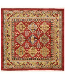 Bridgeport Home Harik Har2 Red 4' x 4' Square Area Rug