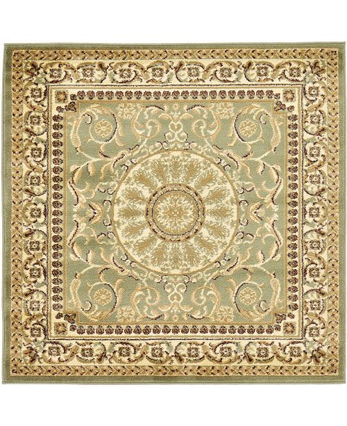 Bridgeport Home Belvoir Blv2 Light Green 4' x 4' Square Area Rug
