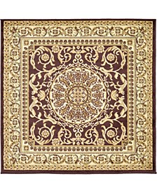 Belvoir Blv2 Brown 4' x 4' Square Area Rug