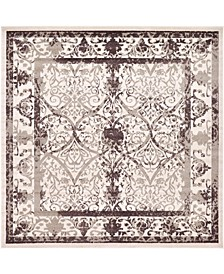 Aldrose Ald6 Brown 10' x 10' Square Area Rug