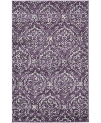 "Felipe Fel1 Purple 3' 3"" x 5' 3"" Area Rug"