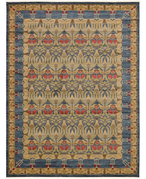 "Bridgeport Home Orwyn Orw3 Blue 12' 2"" x 16' Area Rug"