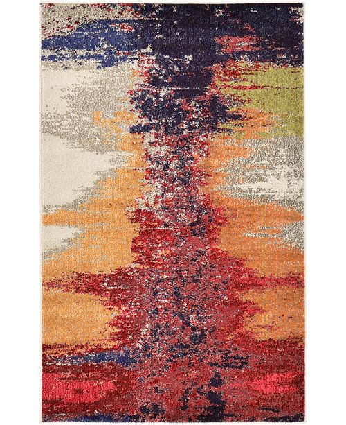 "Bridgeport Home Newwolf New2 Pink 3' 3"" x 5' 3"" Area Rug"