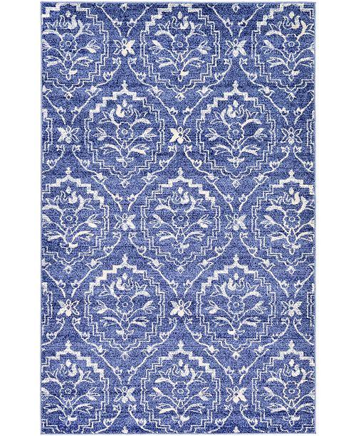 Bridgeport Home Felipe Fel1 Blue 5' x 8' Area Rug