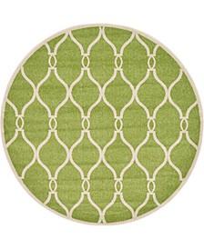 Arbor Arb6 Green 6' x 6' Round Area Rug