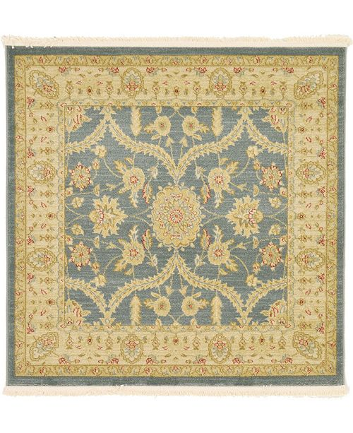 Bridgeport Home Orwyn Orw6 Blue 4' x 4' Square Area Rug