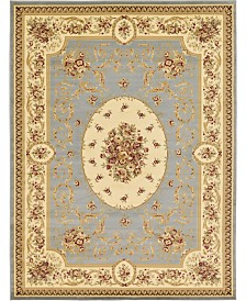 Bridgeport Home Belvoir Blv4 Light Blue 9' x 12' Area Rug