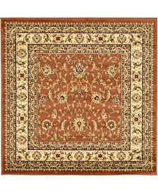 Bridgeport Home Passage Psg4 Brick Red 4' x 4' Square Area Rug