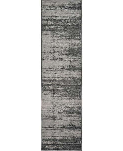 "Bridgeport Home Lyon Lyo3 Dark Gray 2' 7"" x 10' Runner Area Rug"