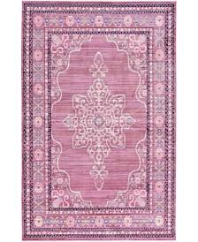 Bridgeport Home Malin Mal2 Pink 5' x 8' Area Rug