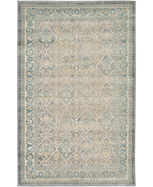 "Bridgeport Home Bellmere Bel4 Gray 3' 3"" x 5' 3"" Area Rug"