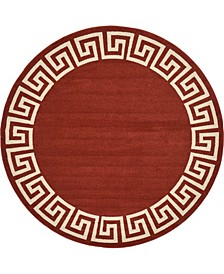 Anzu Anz2 Burgundy 8' x 8' Round Area Rug