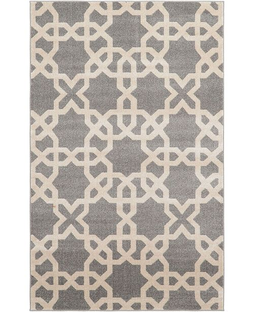 Bridgeport Home Arbor Arb5 Gray 5' x 8' Area Rug