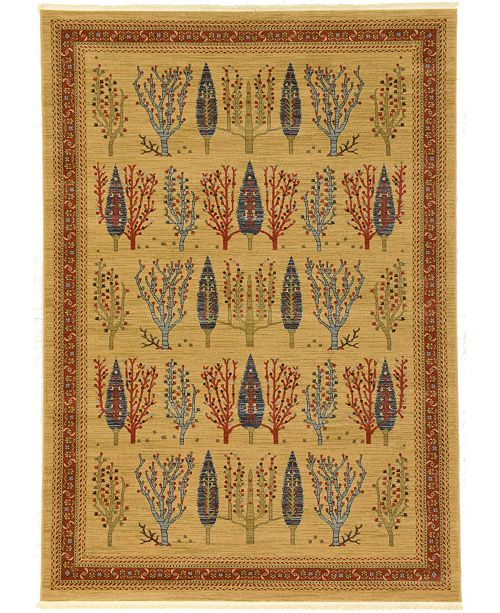 Bridgeport Home Ojas Oja7 Tan 7' x 10' Area Rug