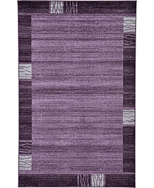 Lyon Lyo1 Purple 5' x 8' Area Rug