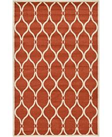 Bridgeport Home Arbor Arb6 Terracotta 5' x 8' Area Rug