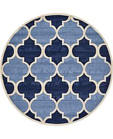 Arbor Arb7 Light Blue 6' x 6' Round Area Rug