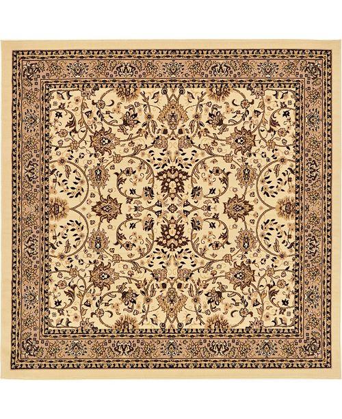 Bridgeport Home Arnav Arn1 Ivory 8' x 8' Square Area Rug