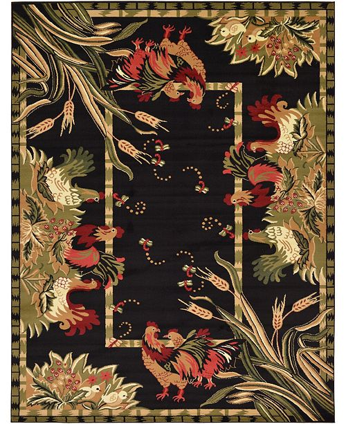 Bridgeport Home Roost Roo1 Black Area Rug Collection