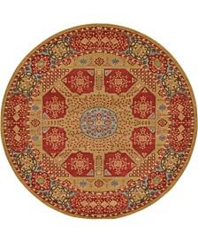 Wilder Wld3 Red 8' x 8' Round Area Rug