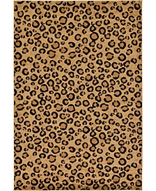 Maasai Mss2 Light Brown 6' x 9' Area Rug