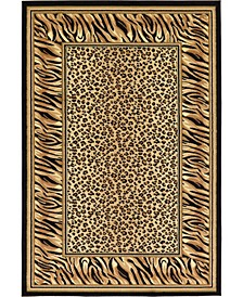 Maasai Mss9 Light Brown 6' x 9' Area Rug