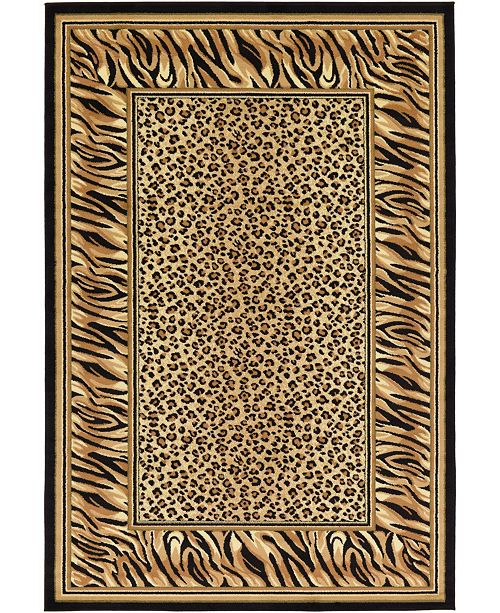 Bridgeport Home Maasai Mss9 Light Brown 6' x 9' Area Rug