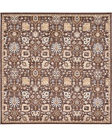 "Wisdom Wis1 Brown 8' 4"" x 8' 4"" Square Area Rug"