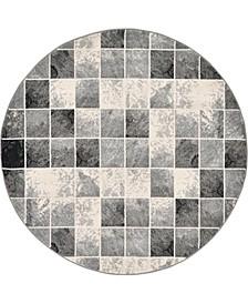 Maasai Mss1 Light Gray 6' x 6' Round Area Rug
