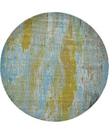 Adah Ada2 Turquoise 8' x 8' Round Area Rug