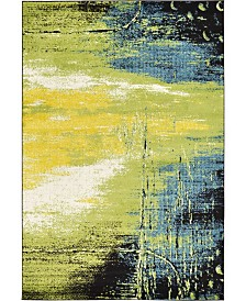 Bridgeport Home Pari Par1 Light Green 6' x 9' Area Rug