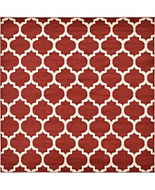 Arbor Arb1 Red 8' x 8' Square Area Rug
