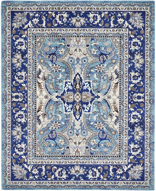 Bridgeport Home Wisdom Wis2 Blue 8' x 10' Area Rug