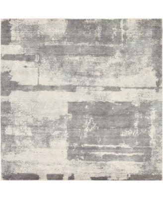 "Wisdom Wis4 Gray 8' 4"" x 8' 4"" Square Area Rug"