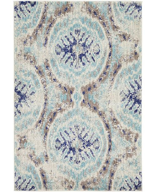 Bridgeport Home Wisdom Wis5 Blue 4' x 6' Area Rug