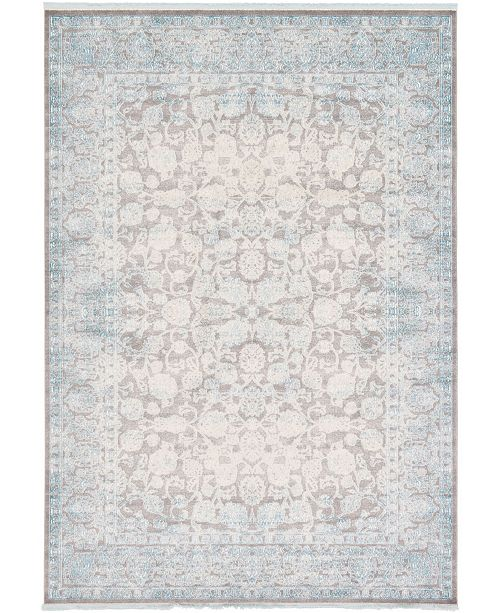 "Bridgeport Home Norston Nor3 Blue 8' x 11' 4"" Area Rug"