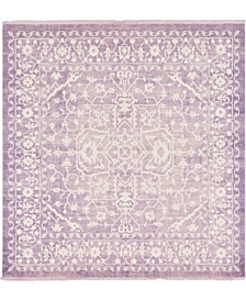 Norston Nor1 Purple 8' x 8' Square Area Rug