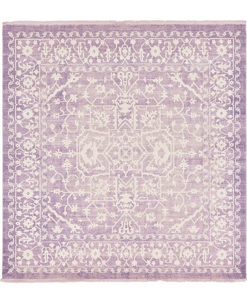 Bridgeport Home Norston Nor1 Purple 8' x 8' Square Area Rug